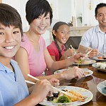 Healthy Living Family Meal Time Together